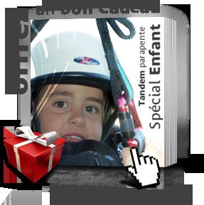 Offrir un bon cadeau de baptême de parapente enfant en Ariège