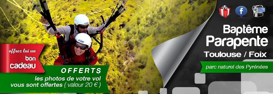Bapteme Parapente découverte plus 20/30 min - Toulouse / Foix- Ariège