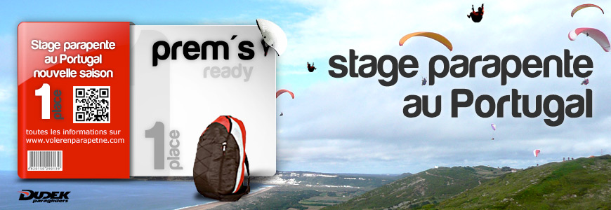 Stage parapente au Portugal du 27 AVRIL au 03 MAI 2019